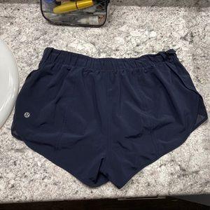 Navy Lululemon shorts